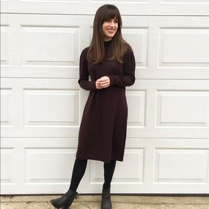 Vintage Maroon turtleneck sweater dress medium